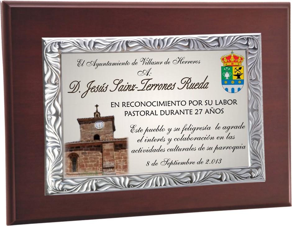 Placa Homenaje Ayuntamiento Vecino