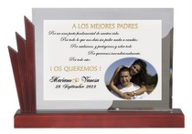 Placa Grabada Color Boda